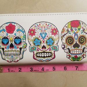 Sugar skull wallet.